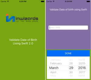 How To Validate Date Using Date Picker In Swift 2 0
